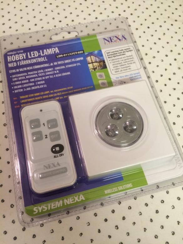 Batteridriven ledlampa med fjärrkontroll